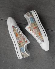 pharmacy-vintage-label Men's Low Top White Shoes aos-complex-men-white-high-low-shoes-lifestyle-inside-left-outside-left-01