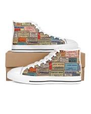 pharmacy-vintage-label Women's High Top White Shoes tile