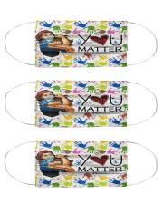 mask matter counselor  Cloth Face Mask - 3 Pack front