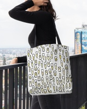 Tote Teeth All-over Tote aos-all-over-tote-lifestyle-front-05