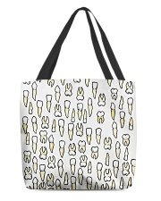 Tote Teeth All-over Tote back