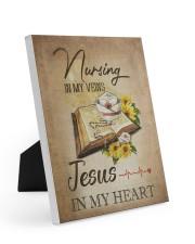 nurse jesus vein Easel-Back Gallery Wrapped Canvas tile
