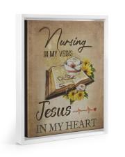 nurse jesus vein Floating Framed Canvas Prints White tile
