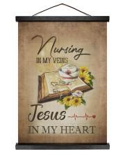 nurse jesus vein Hanging Canvas tile