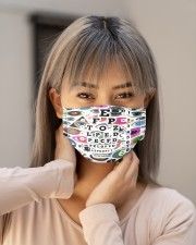 eye too close pattern Cloth Face Mask - 3 Pack aos-face-mask-lifestyle-18
