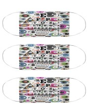 eye too close pattern Cloth Face Mask - 3 Pack front