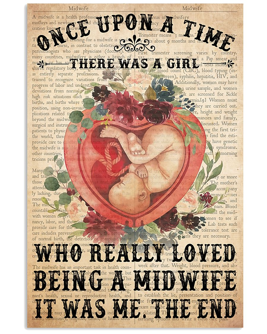 once upon text midwife 24x36 Poster