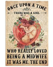 once upon text midwife 24x36 Poster front