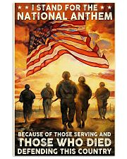 Veteran stand for the national anthem 11x17 Poster front