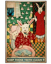 teeth clean rabbit 11x17 Poster front