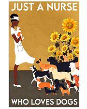 dog just a black nurse 11x17 Poster front