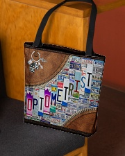 leather tote plate optometrist dvhd ntv All-over Tote aos-all-over-tote-lifestyle-front-02