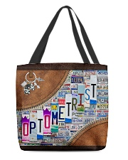 leather tote plate optometrist dvhd ntv All-over Tote front