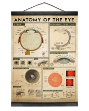 eye-anatomy 12x16 Black Hanging Canvas thumbnail