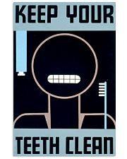 teeth clean 11x17 Poster front