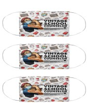 School Counselor Vintage Cloth Face Mask - 3 Pack front