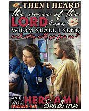 nurse christ oilpt isaiah 11x17 Poster front