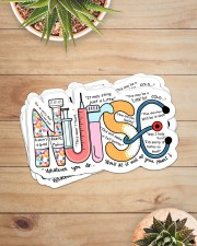 Nurse Typo sticker Sticker - 6 pack (Horizontal) aos-sticker-6-pack-horizontal-lifestyle-front-07