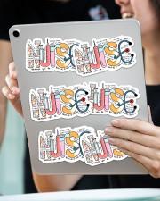 Nurse Typo sticker Sticker - 6 pack (Horizontal) aos-sticker-6-pack-horizontal-lifestyle-front-11