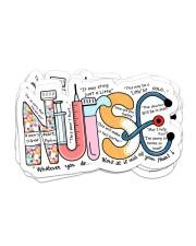 Nurse Typo sticker Sticker - 6 pack (Horizontal) front