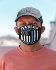 Nurse Back The Blue Cloth Face Mask - 3 Pack aos-face-mask-lifestyle-06
