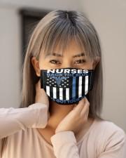 Nurse Back The Blue Cloth Face Mask - 3 Pack aos-face-mask-lifestyle-18