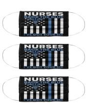 Nurse Back The Blue Cloth Face Mask - 3 Pack front