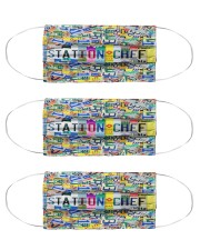 plate mask Station Chef  Cloth Face Mask - 3 Pack front