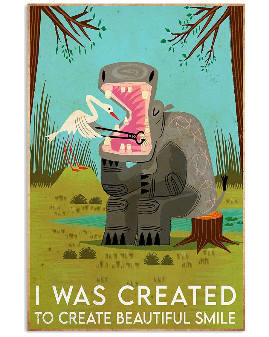 create smile hippo 11x17 Poster