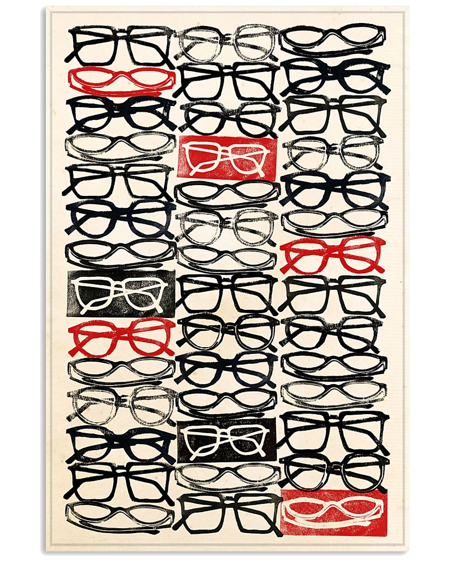 stacked eye glass 24x36 Poster