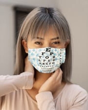 eye chart-close-pattern 2 Cloth Face Mask - 3 Pack aos-face-mask-lifestyle-18