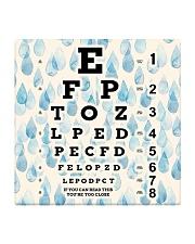 eye chart-close-pattern 2 Square Coaster tile