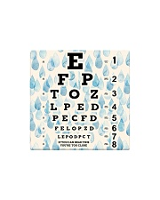 eye chart-close-pattern 2 Square Magnet tile