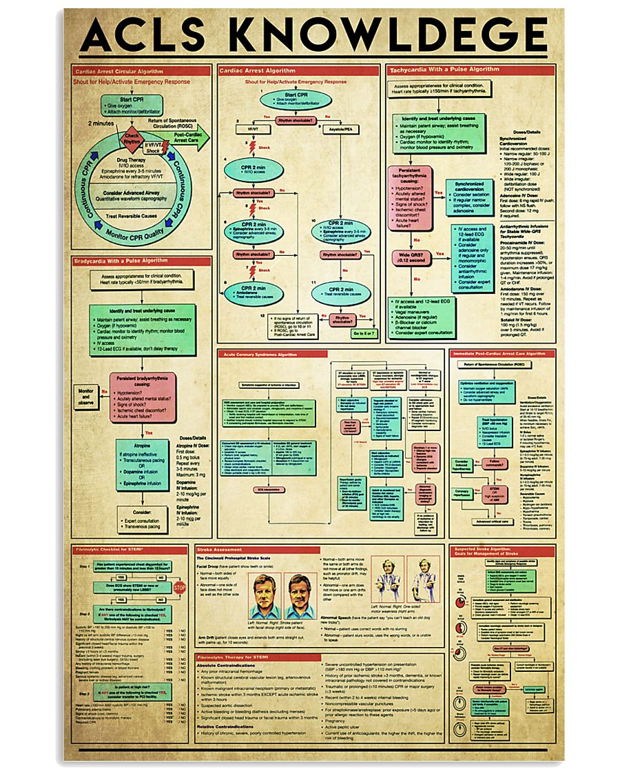 acls-knowledge 11x17 Poster