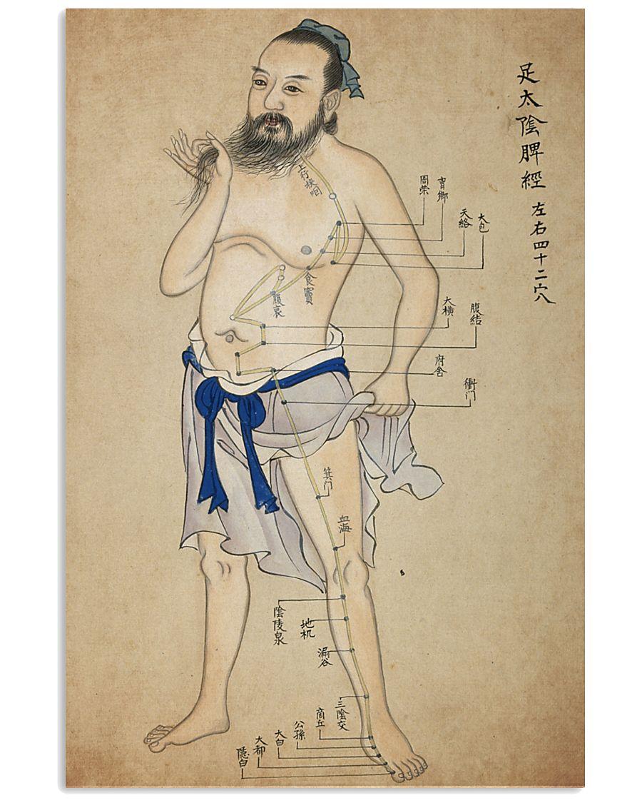 acupuncture print antique 2 24x36 Poster