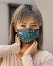 counselor dream bigger mas Cloth Face Mask - 3 Pack aos-face-mask-lifestyle-18