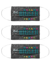 counselor dream bigger mas Cloth Face Mask - 3 Pack front