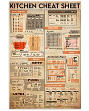 kitchen cheat sheet 24x36 Poster front