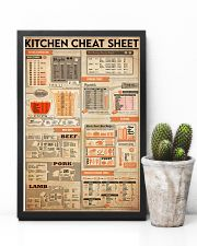 kitchen cheat sheet 24x36 Poster lifestyle-poster-8