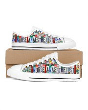 shoe plate Nurse anaesthetist left Men's Low Top White Shoes inside-right-outside-right
