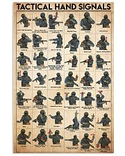 Military Tactical Hand Signals 11x17 Poster front