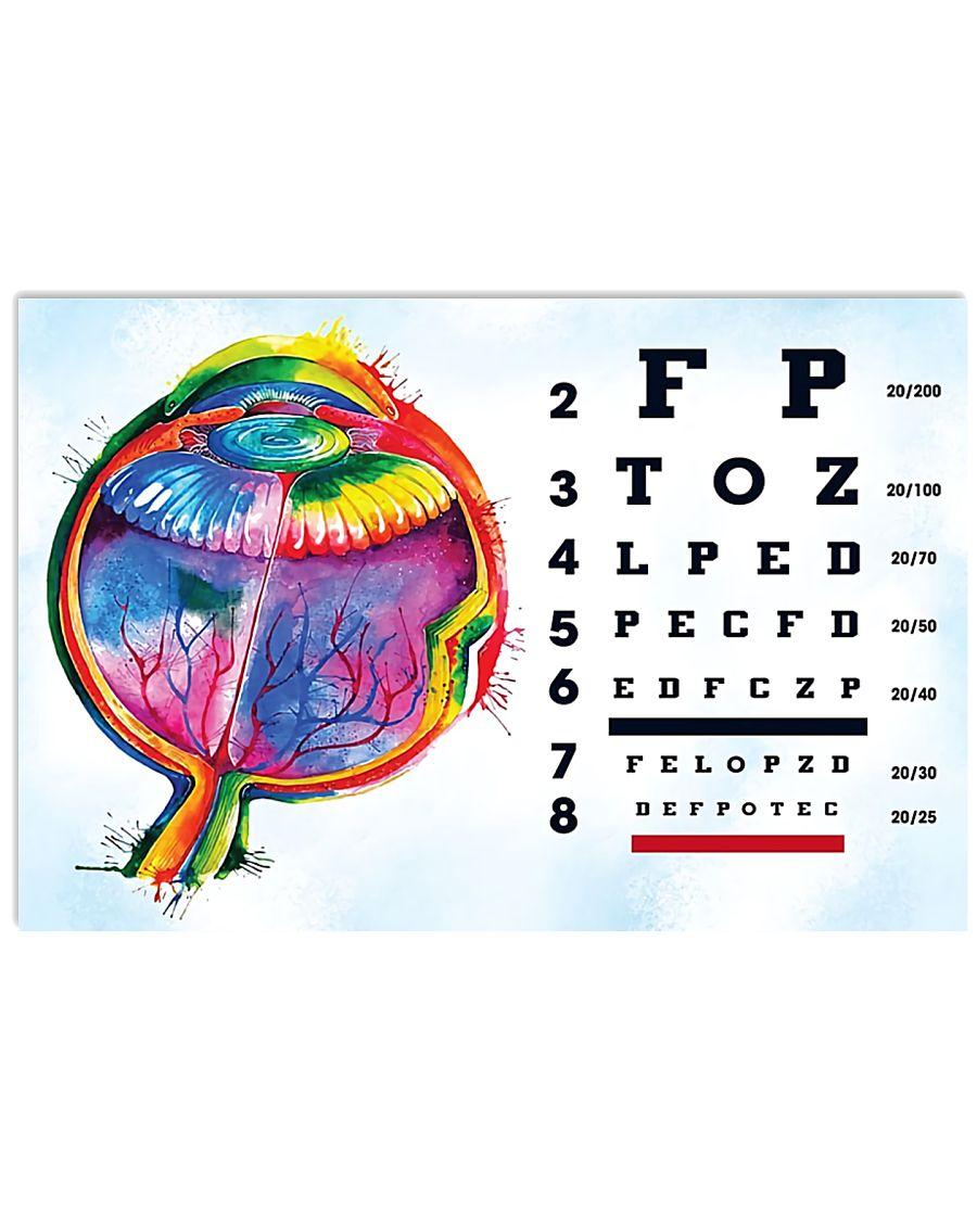 optometrist-test 17x11 Poster