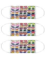 Colorful glasses mas Cloth Face Mask - 3 Pack front