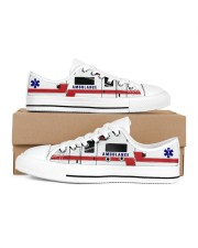 Ambulance-shoe Men's Low Top White Shoes inside-right-outside-right