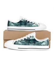 xray-teeth Men's Low Top White Shoes inside-right-outside-right
