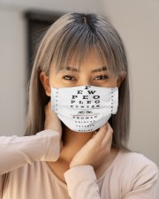 eye-chart-qute 3 Cloth Face Mask - 3 Pack aos-face-mask-lifestyle-18