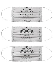 eye-chart-qute 3 Cloth Face Mask - 3 Pack front