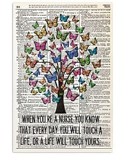 nurse dictionary butterfly 11x17 Poster front