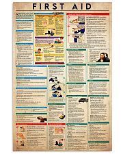 first aid  24x36 Poster front