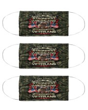 veterans God Americans Cloth Face Mask - 3 Pack front